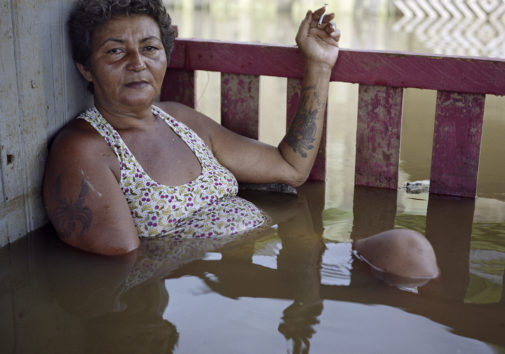 Francisca Chagas dos Santos, Taquari District, Rio Branco, Brazil, March 2015; Photograph by Gideon Mendel, part of his Drowning World Project.