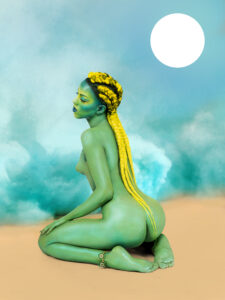 Juliana Huxtable, Untitled in the Rage (Nibiru Cataclysm), 2015. Inkjet print. Solomon R. Guggenheim Museum, New York. Purchased with funds contributed by Stephen J. Javaras, 2015. Image courtesy Solomon R. Guggenheim Museum, New York. © Juliana Huxtable