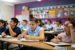 Physical activity helps the kids focus on classroom learning