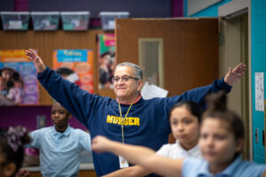 """""""The kids were the ones reminding me: 'Hey Mr. Reyes, it's time to dance!'"""""""