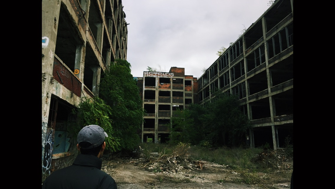 On a trip to Detroit, Michigan, students explored abandoned factories and warehouses to understand the different parts of Detroit. Image credit: Benjamin Garcia
