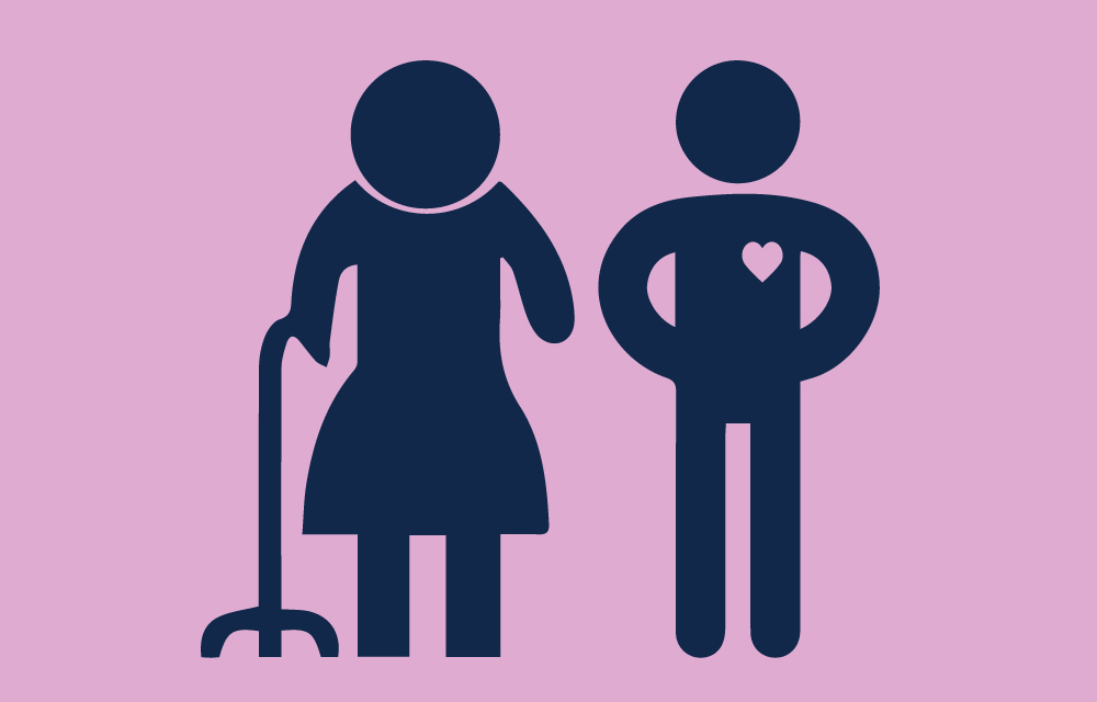 Icon of a caregiver and an elderly person