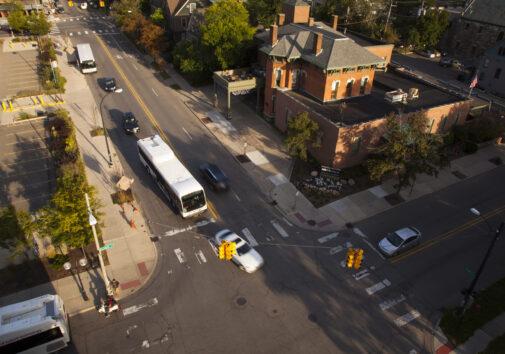 Aerial view of Ann Arbor, MI on September 16, 2015. Image credit: Marcin Szczepanski, Michigan Engineering