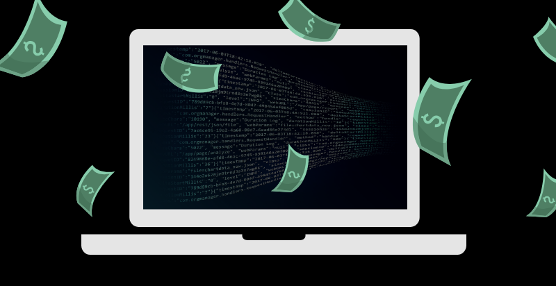 Illustration of money and technology. Illustration credit: Ilma Bilic