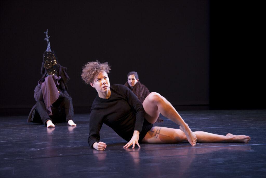 Anna Martine Whitehead performing Memory Loser at University of Michigan. Image credit: Sarah Nesbitt