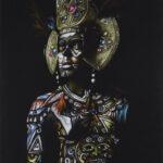 Warrior on Black. Illustrator: Theodora Moss