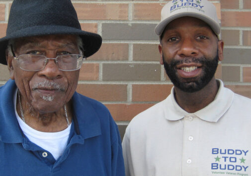 Buddy to Buddy helped a 97-year-old WWII veteran who couldn't afford to buy a heater.