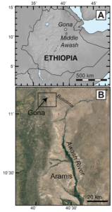 Location of the Gona Project study area. Derived from Simpson et al 2019. Image credit: Scott Simpson, CWRU School of Medicine.