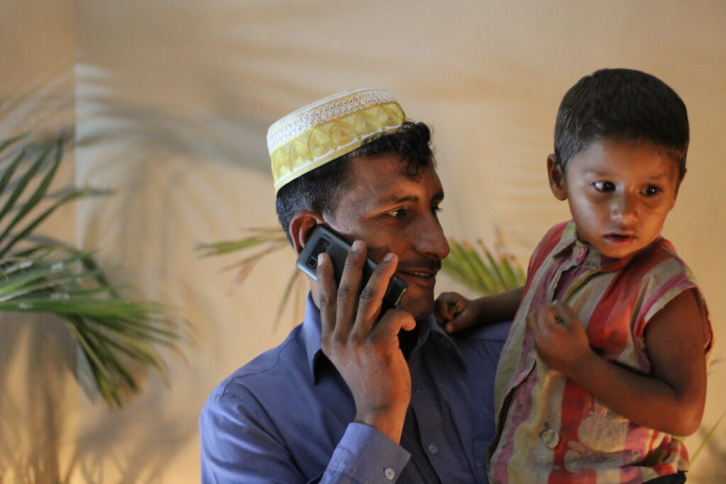 Pakistani father and child. Image credit: Abdullah Kharal