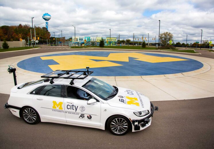 A specially equipped Lincoln MKZ, based at Mcity, is an open-source connected and automated research vehicle available to U-M faculty and students, startups and others to help accelerate innovation. Image credit: University of Michigan
