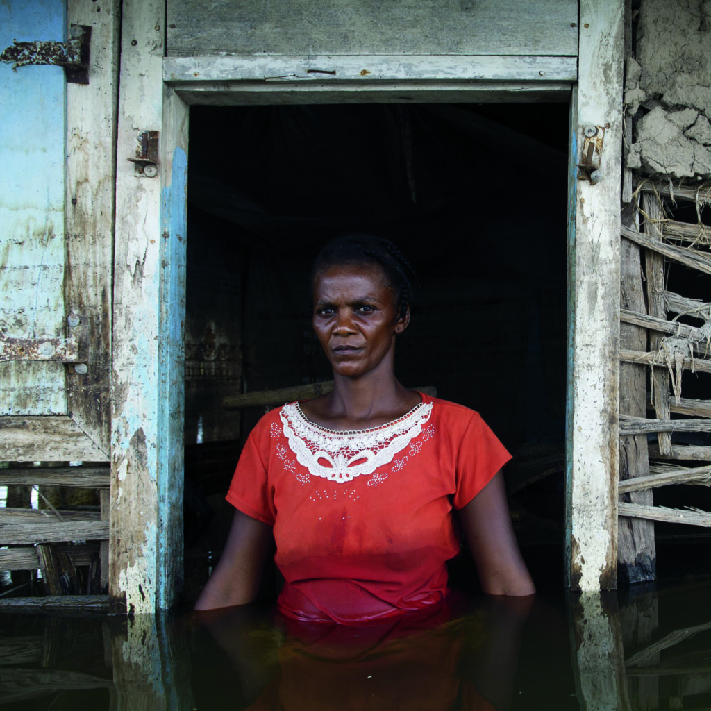 Gideon Mendel, Adlene Pierre, Savanne Desolée, Gonaïves, Haiti, September 2008, from The Drowning World series, 2008, chromogenic print. Courtesy of the artist and Axis Gallery, New York and New Jersey.
