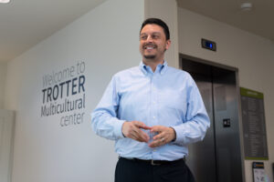 Trotter Multicultural Center Director Julio Cardona looks forward to expanding the center's mission in promoting an inclusive campus climate. Image credit: Michigan Photography