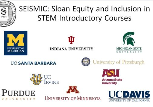 SEISMIC: Sloan Equity and Inclusion in STEM Introductory Courses