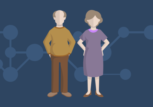 Icons of elderly man and woman