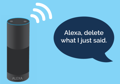 Illustration of an Alexa device. Illustration credit: Kaitlyn Beukema