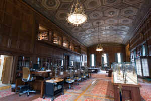 The University of Michigan William L. Clements Library is known for the Avenir Foundation Room on the first floor. It is open to the public Fridays, 12-4 p.m. Image credit: Eric Bronson/Michigan Photography.