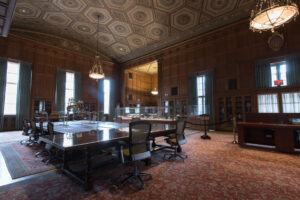 The U-M William L. Clements Library is known for the Avenir Foundation Room on the first floor. It is open to the public Fridays, 12-4 p.m. Image credit: Eric Bronson/Michigan Photography.
