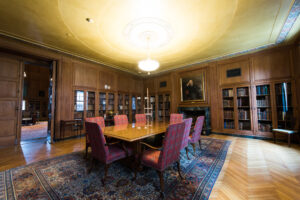 "Along with a new $10 million gift from The Avenir Foundation, the rare book room at the University of Michigan William L. Clements Library will receive a new name: ""The Norton Strange Townshend Room."" Image credit: Eric Bronson/Michigan Photography."