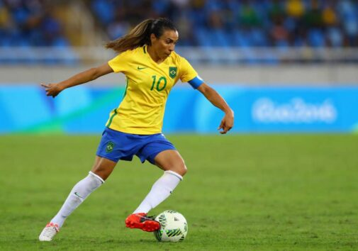 Brazilian soccer player Marta Vieira da Silva, known as Marta, is widely regarded as the best female soccer player of all time.