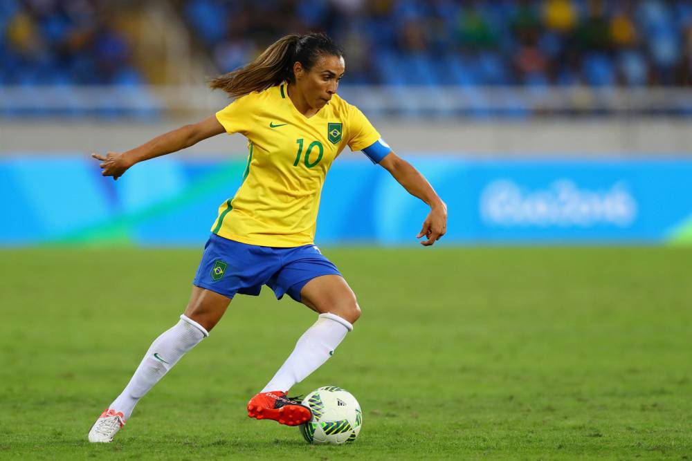 Brazilian soccer player Marta Vieira da Silva, known as Marta, is widely regarded as the best female soccer player of all time. Image credit: Getty Images