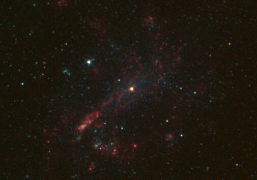 NGC 4395 is imaged with the Schulman Telescope at Mount Lemmon Observatory.