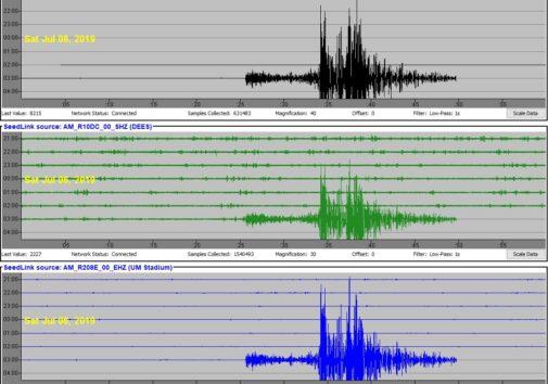 image of a seismogram