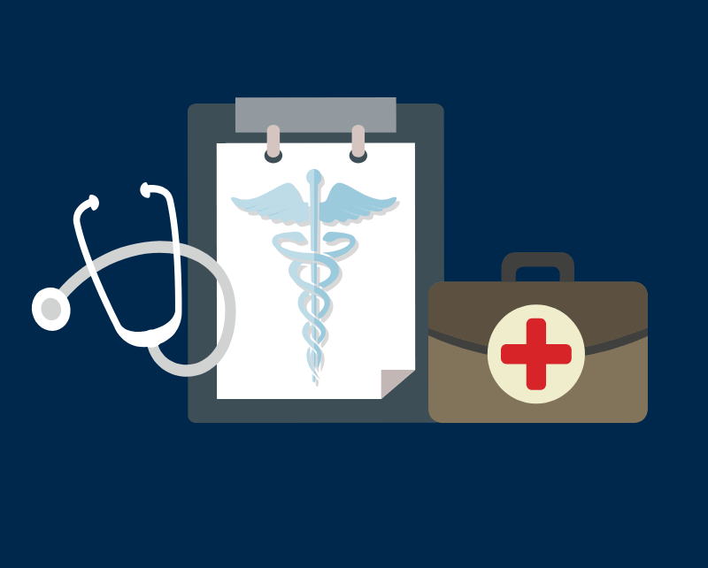 Illustration of medical supplies. Image credit: Chloe Oliva