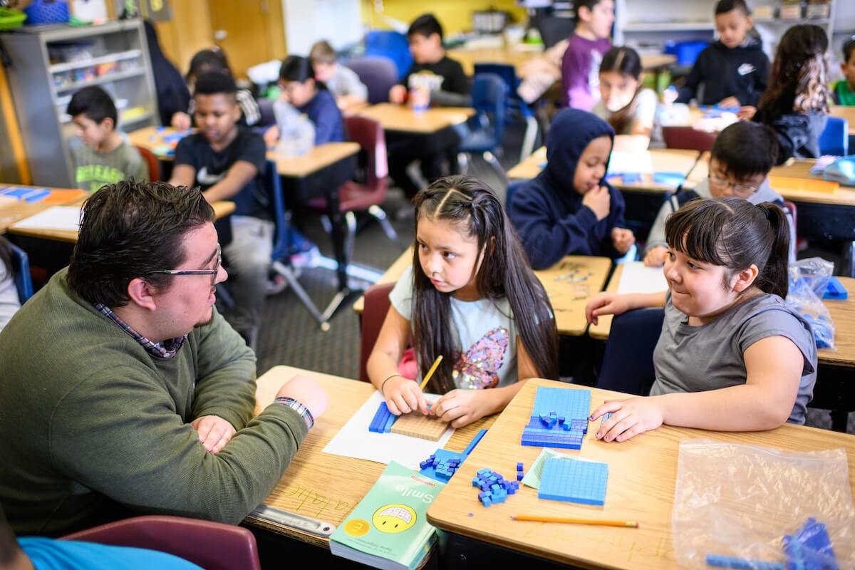 Kuiper and his math students. Image credit: Michigan Impact