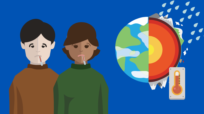 Illustration of climate change. llustration credit: Ilma Bilic