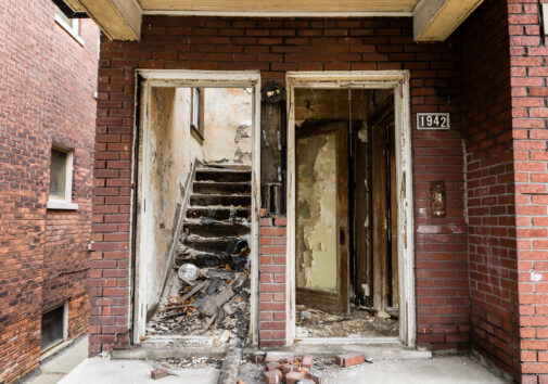 Image of an abandoned house. Image credit: Creative Commons