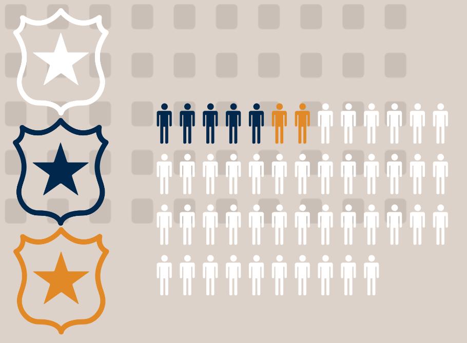 Concept illustration of law enforcement and population. Image credit: Chloe Oliva