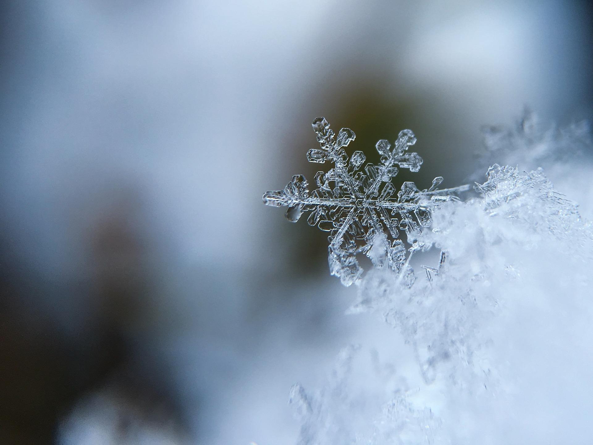 A snowflake. Image courtesy: Pixabay
