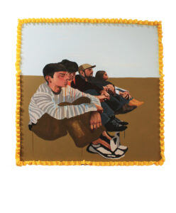 """Illegal Entry"" by Ruth Leonela Buentello (acrylic on canvas) will be featured in ""Yo Tengo Nombre"" [I Have a Name], an exhibition presented by the University of Michigan Institute for the Humanities Sept. 19–Oct. 2."