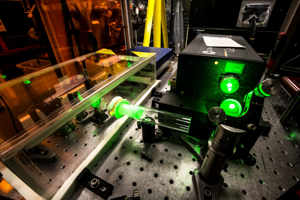 HERCULES 300 TW laser. Image credit: Joseph Xu, College of Engineering