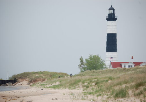 Big Sable Point lighthouse in Ludington, MI. Photo by University of Michigan School of Music, Theatre & Dance professor William Lucas; taken as part of the Michigan Lighthouse Legacy Project.