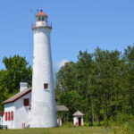 Sturgeon Point Lighthouse is located five miles north of Harrisville on Lake Huron. Photo by University of Michigan School of Music, Theatre & Dance professor William Lucas; taken as part of the Michigan Lighthouse Legacy Project.