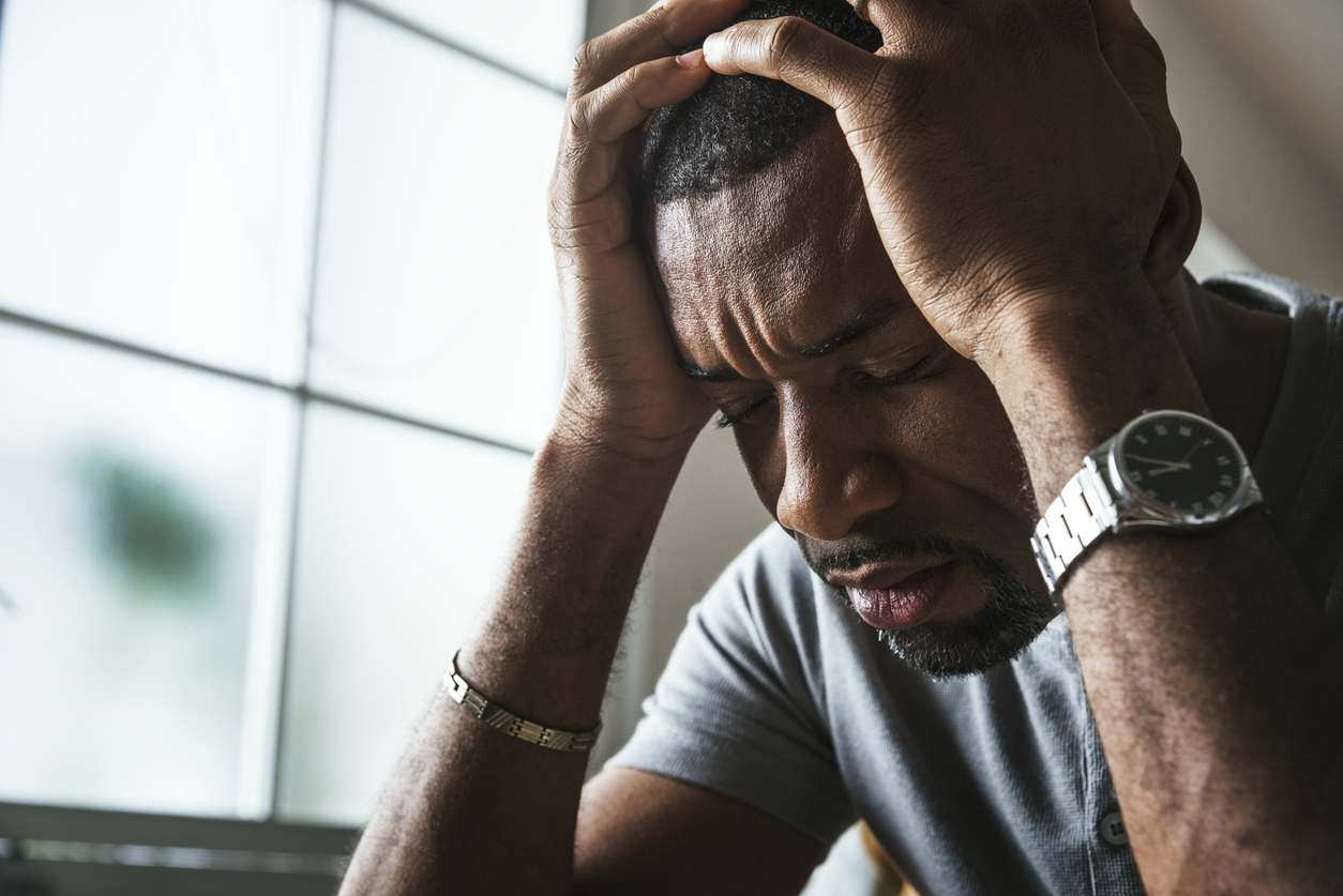 African American man stressed out. Image credit: iStock