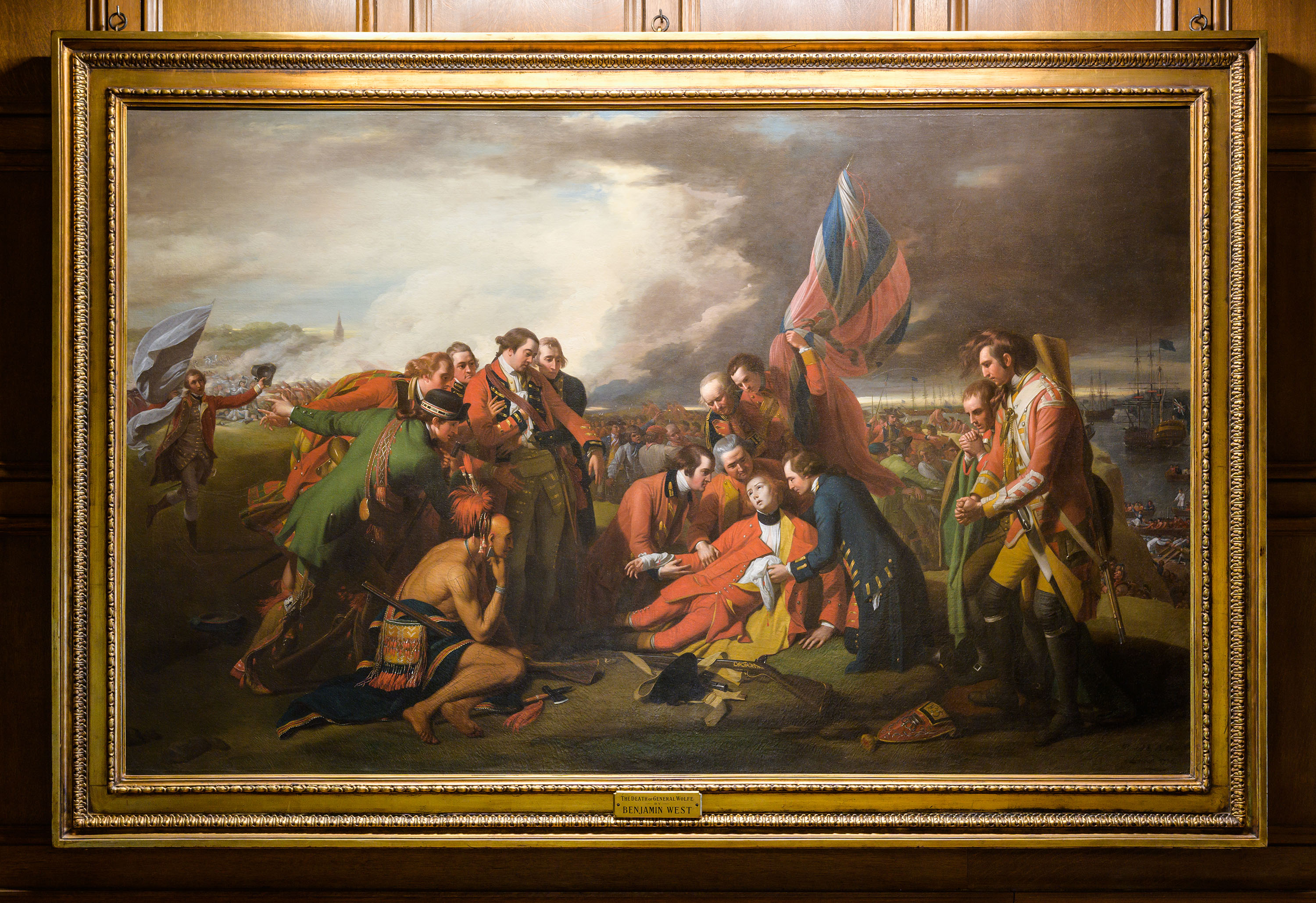 The Death of General Wolfe, a painting by Benjamin West, at the Clements Library.