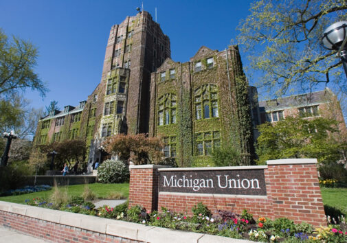 Exterior of the Michigan Union building.