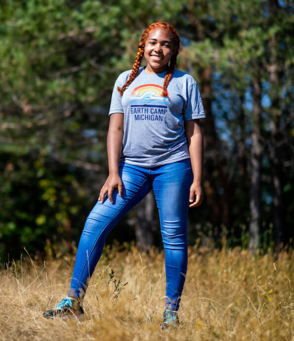 University of Michigan Earth Camper Nyah Maddox wants to study environmental science in college.