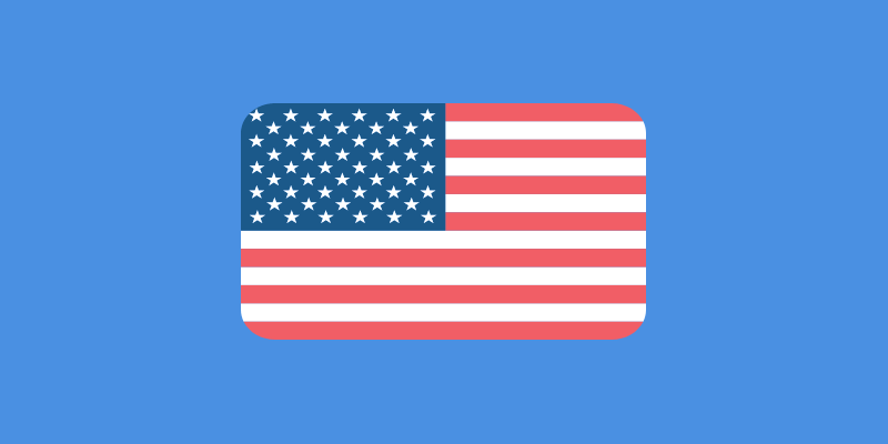 Icon of U.S.A. Flag