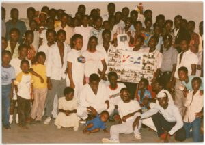 "Rita Rochelle Listeners Club in Accra, Ghana in 1988. Rochelle was a longtime ""Music Time in Africa"" host."