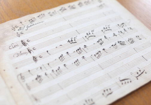 """Domenico Scarlatti's rare """"Clori e Fileno"""" manuscript is part of the U-M Music Library's collection. Students, staff and faculty at the University of Michigan worked to record a new version of the work this fall. Image credit: Alan Piñon"""