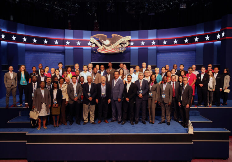 CPD-NDI International Delegation in Las Vegas 2016. Image courtesy: the Commission on Presidential Debates
