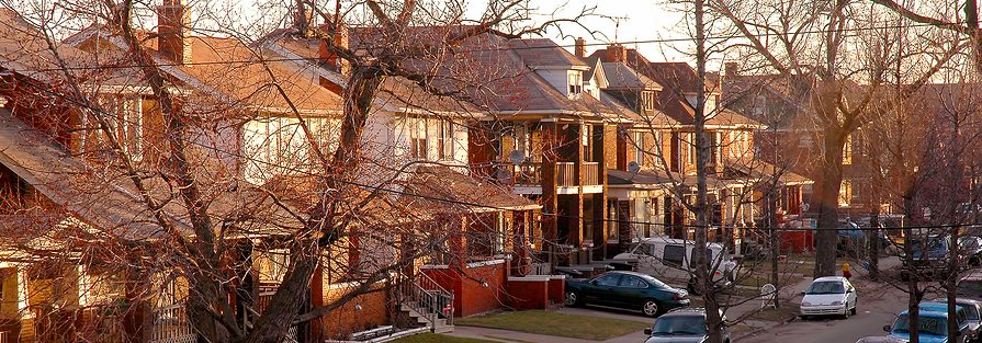 A Detroit neighborhood. Image courtesy: Poverty Solutions