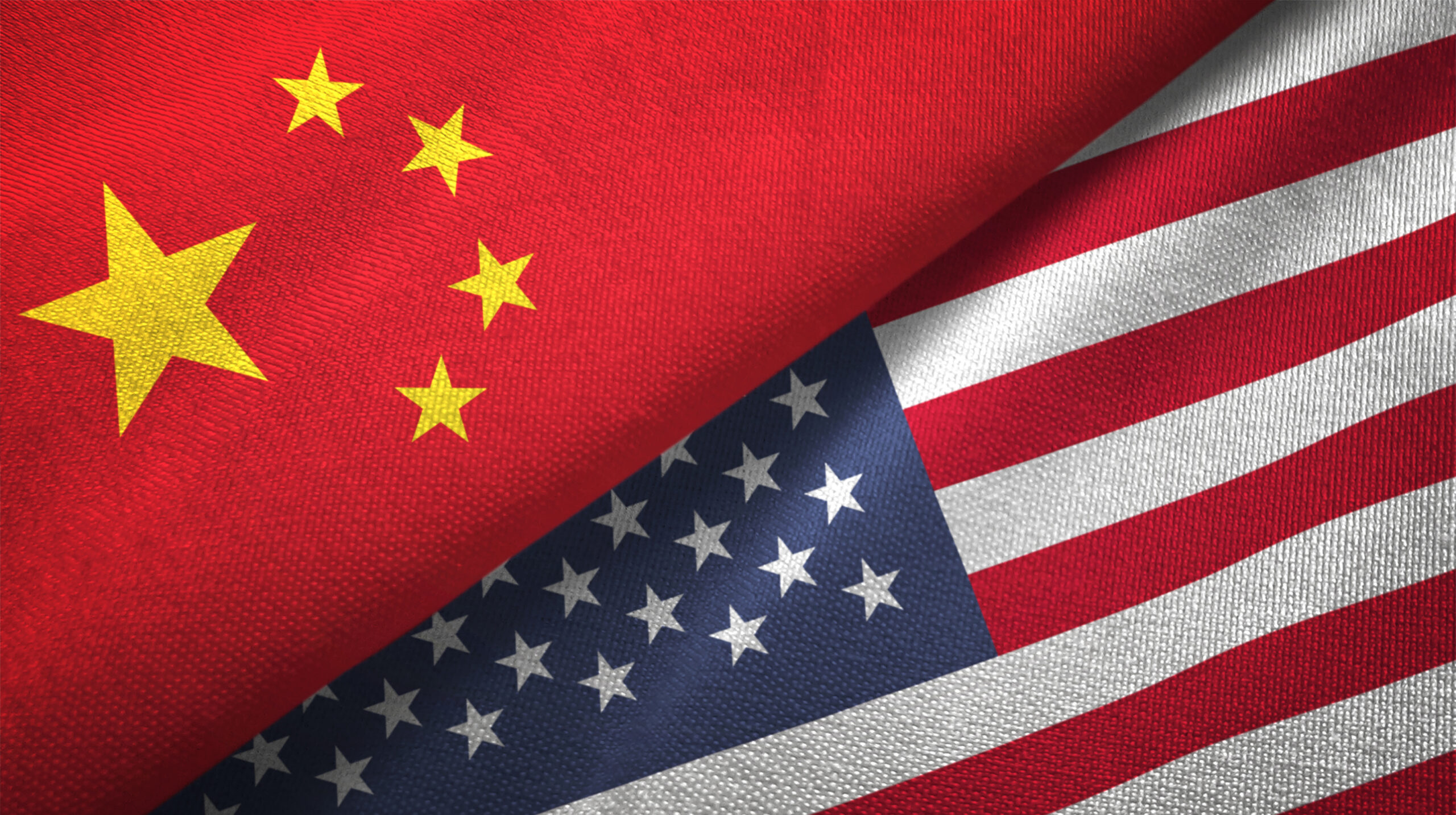 United States and China flags together. Image credit: iStock