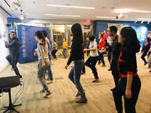 Foust taught dance at several local studios in Shanghai and Beijing and did a lecture series in the United States Embassy, in Beijing. Image courtesy: Lenard J. Foust