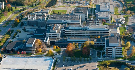 Aerial view of North Campus Research Complex