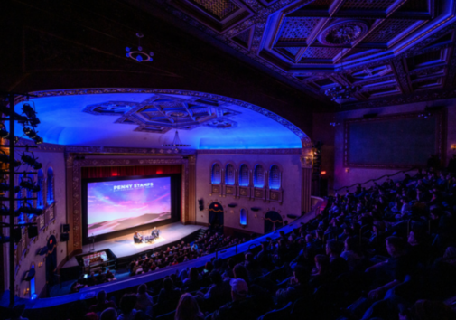 The popular Penny Stamps Speaker Series that takes place each week at the Michigan Theater has moved to an online format for the remainder of the season. Image credit: Austin Thomason/Michigan Photography