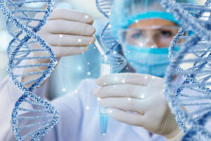 Doctor conducts the test and the study of DNA. Image credit: iStock
